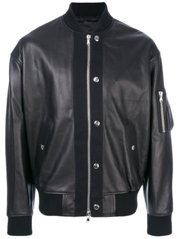 Diesel Black Gold - Bomber Jacket - Men - Viscose/leather/wool/acrylic - 46, Brown, Viscose/leather/wool/acrylic