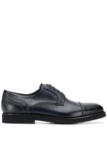 Baldinini Textured Lace Up Loafers - Blue
