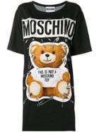 Moschino Safety Pin Teddy Bear Dress - Black