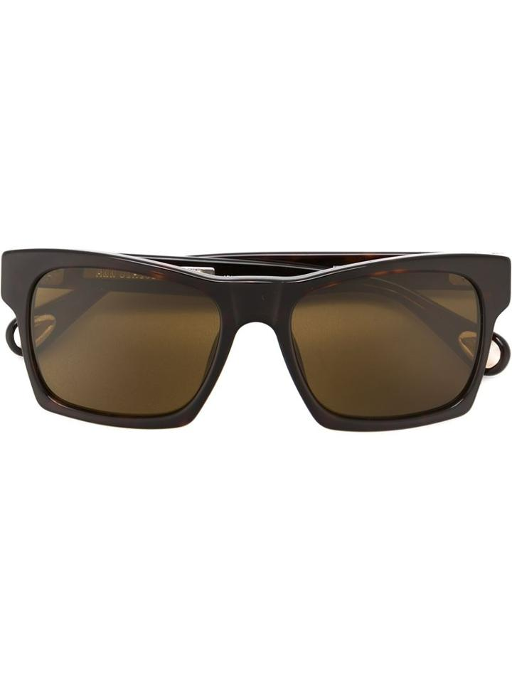 Linda Farrow Gallery Square Frame Sunglasses