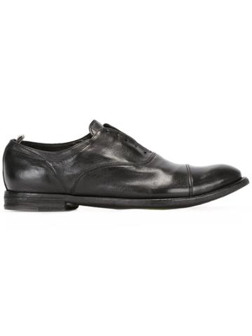 Officine Creative Ignis Laceless Oxford Shoes - Black