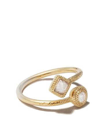 De Beers 18kt Yellow Gold Talisman Diamond Ring