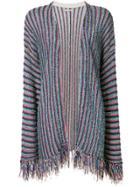 Nuur Striped Knit Cardigan - Multicolour