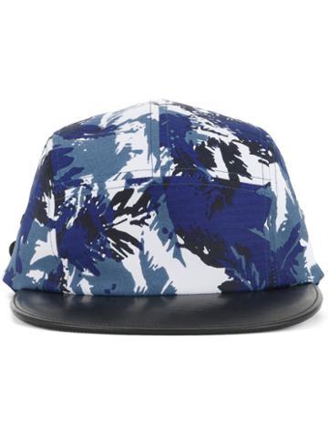 Kazuyuki Kumagai Printed Baseball Cap, Men's, Black, Rayon