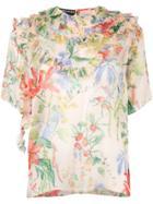 Rochas Floral Print Blouse - Multicolour