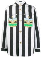 Versace Striped Denim Shirt - White
