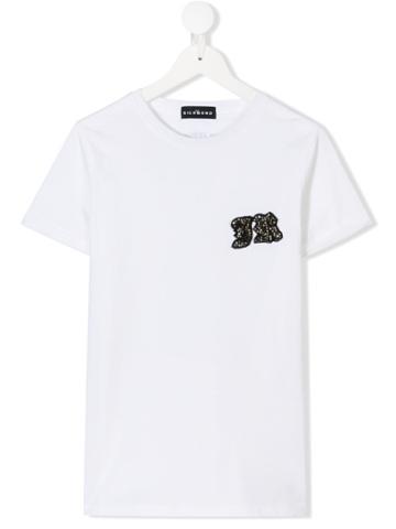 John Richmond Junior Teen Logo Patch T-shirt - White