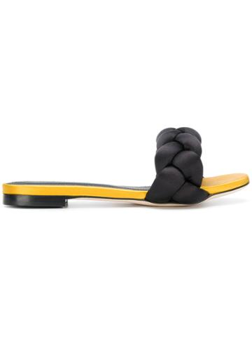 Marco De Vincenzo Braided Slides - Black