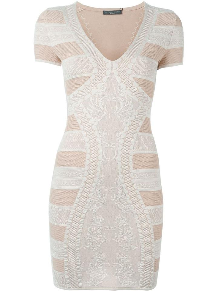 Alexander Mcqueen Victorian Lace Knit Mini Dress