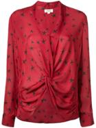 L'agence Star Print Blouse - Red