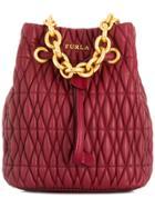 Furla Stacy Cometa Mini Bucket Bag - Red