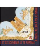 Gucci Scarf With Memories Of Paris Print - Blue