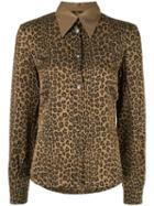 Fendi Pre-owned Leopard Print Shirt - Brown
