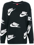 Nike Logo Print Sweatshirt - Black