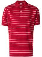 Eleventy Striped Polo Shirt - Red