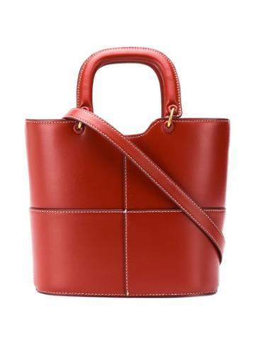 Staud Staud 1609167cog Red Furs & Skins->leather