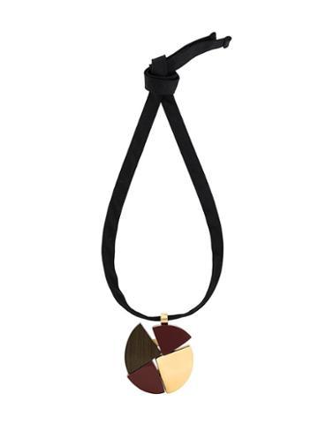 Marni Wood Pendant Necklace, Women's, Black