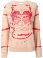 Givenchy Printed Crewneck Sweatshirt - Neutrals