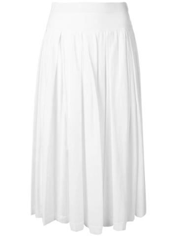 Aspesi Pleated Midi Skirt - White