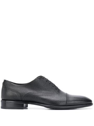 Roberto Cavalli Textured Oxford Shoes - Black