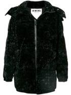 Versus Hooded Padded Coat - Black