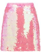 Milly Sequin Embellished Mini Skirt - Pink