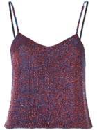 Ashish Sequin Cami Top - Purple