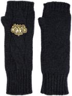 Dolce & Gabbana Crown Fingerless Gloves
