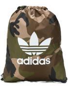 Adidas Camouflage Drawstring Backpack - Green