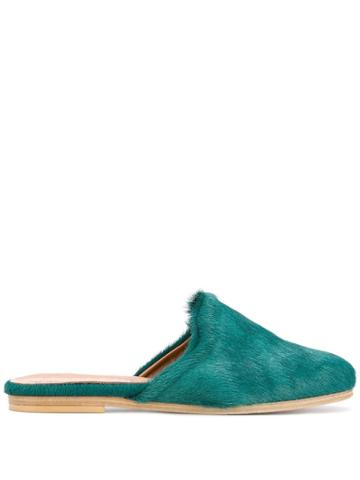 Solange Round Toe Mules - Green