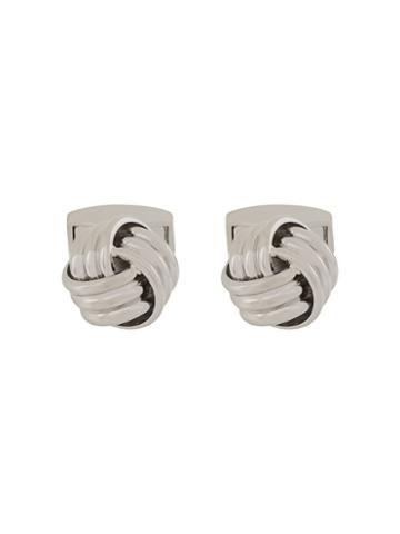 Rt By Tate Tateossian Knot Cufflinks - Silver