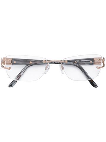 Cazal - 'westbound' Glasses - Women - Acetate/titanium - 54, Grey, Acetate/titanium