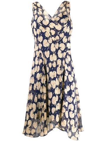 Dvf Diane Von Furstenberg Printed Wrap-effect Dress - Blue