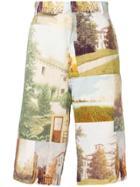Maison Flaneur Fantasia Print Shorts - Multicolour