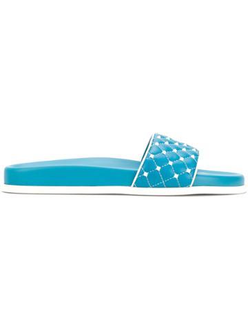 Valentino Valentino Garavani Free Rockstud Spike Slides - Blue
