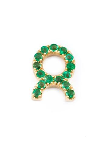 Loquet Emerald Taurus Charm