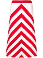Gucci Striped Midi Skirt - White