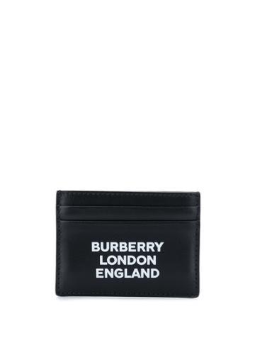 Burberry Branded Text Print Cardholder - Black