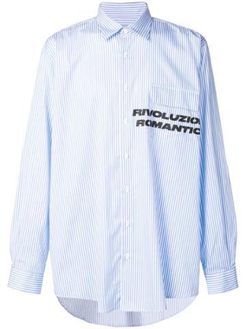 Paura 'revoluzione Romantica' Printed Shirt - Blue
