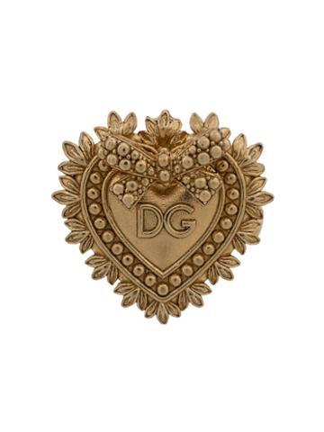 Dolce & Gabbana Dg Heart Motif Cufflinks - Gold