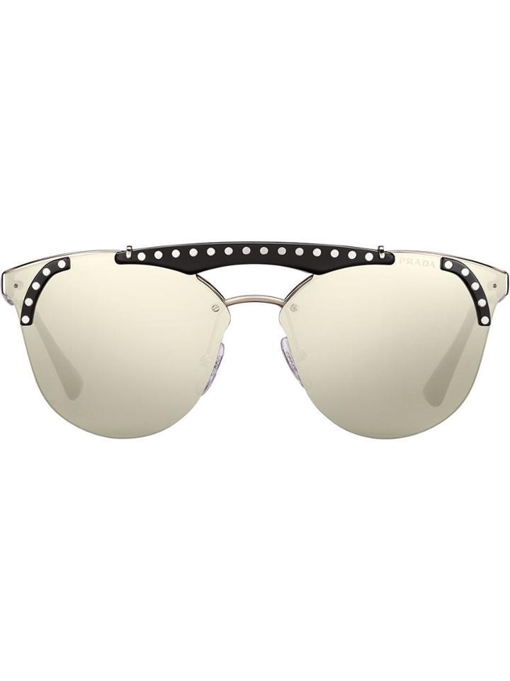 Prada Eyewear Ornate Sunglasses - Metallic