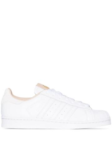 Adidas White Superstar Leather Sneakers