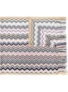 Missoni Zigzag Pattern Knitted Scarf