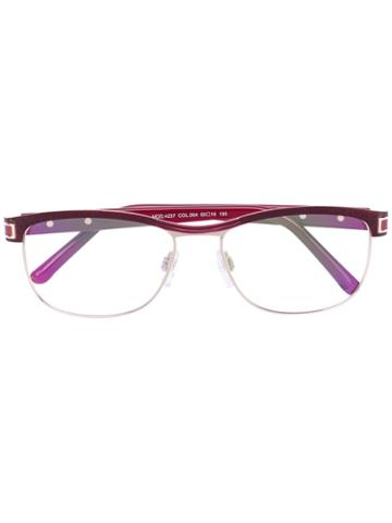 Cazal - Rounded Glasses - Women - Acetate/titanium - 53, Red, Acetate/titanium