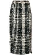 No21 Tweed Pencil Skirt - Black