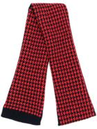 Holland & Holland Cashmere Houndstooth Scarf - Red