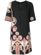 Etro Patterned Shift Dress - Black