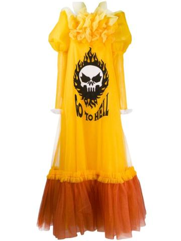 Viktor & Rolf Go To Hell Tulle Gown - Yellow