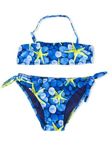 Mc2 Saint Barth Kids Mary Bikini, Girl's, Size: 6 Yrs, Blue