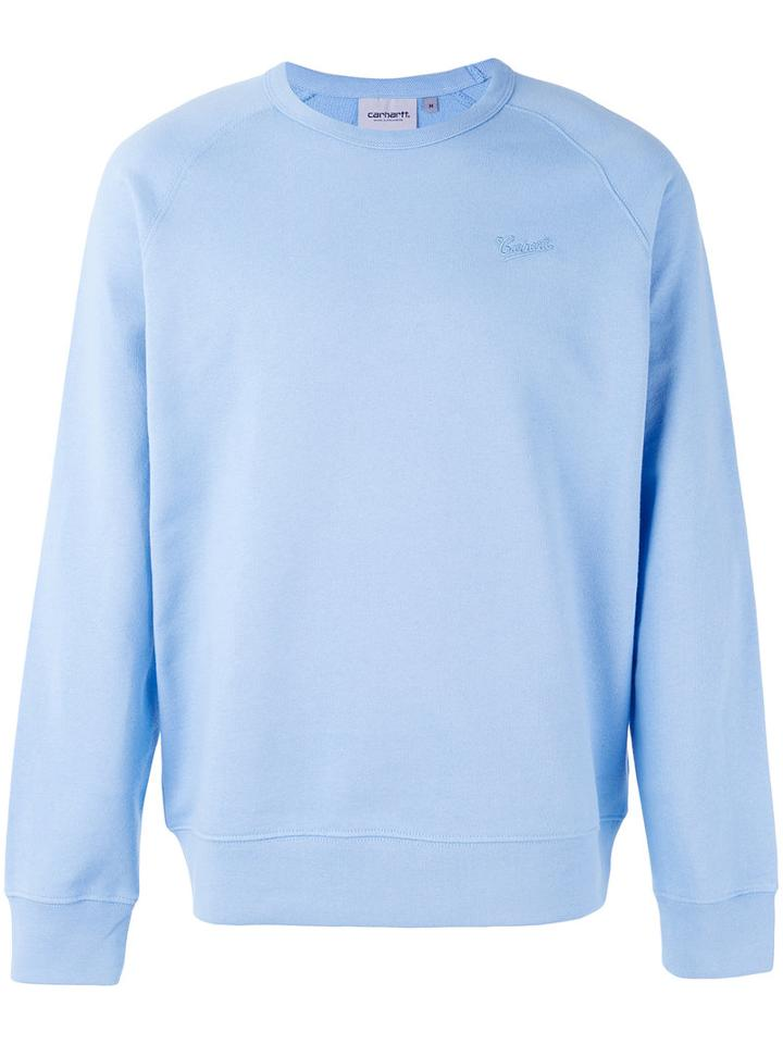 Carhartt - Longsleeve Sweatshirt - Men - Cotton - Xl, Blue, Cotton